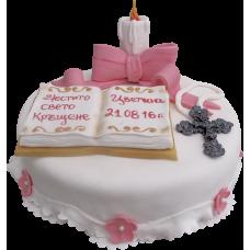 Торта за кръщене 2076
